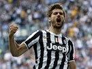 Fernando Llorente z Juventusu Turín slaví gól.