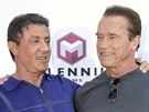 Sylvester Stallone a Arnold Schwarzenegger v Cannes