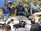 Sylvester Stallone, Mel Gibson a Dolph Lundgren v Cannes