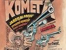 Kometa č. 15, (1990), jeden z exponátů výstavy Hommage à Kája Saudek -...