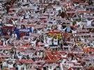 Fanoušci Sevilly před finále Evropské ligy