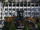 D�ln�ci v Mariupolu bo�� barik�dy, kte�� tam postavili proru�t� separatist�.
