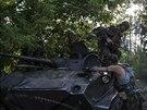 Ukrajin�t� voj�ci se u Slavjansku chystaj� na dal�� boje se separatisty (18....