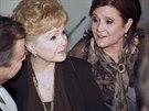 Debbie Reynoldsová a Carrie Fisherová (12. července 2010)