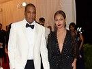 Jay-Z a Beyoncé na Met Gala v Metropolitním muzeu (New York, 5. května 2014)