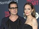 Brad Pitt a Angelina Jolie na premiéře filmu The Normal Heart (New York, 12....
