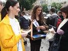 �esk� Miss Earth 2014 Nikola Buransk� a �esk� Miss World Tereza Skoumalov�...