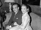 Monack� kn�e Rainier III. a Grace Kellyov� (Philadelphia, 5. ledna 1956)