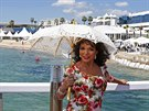 Joan Collinsov� (Cannes, 18. kv�tna 2014)