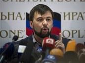 """Předseda doněcké """"vlády"""" Denis Pušilin (12. května 2014)"""