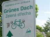 Značení Grünes Dach Radweg