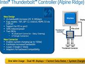 Nová verze rozhraní Thunderbolt zvyšuje dvojnásobně rychlost a umožní napájet...