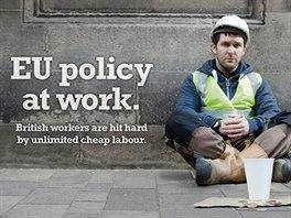 Plakáty britské euroskeptické strany UKIP (United Kingdom Independence Party -...