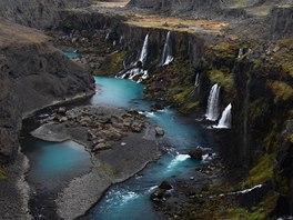 Vodopády na řece Tungnáa