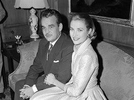 Monacký kníže Rainier III. a Grace Kelly (Philadelphia, 5. ledna 1956)