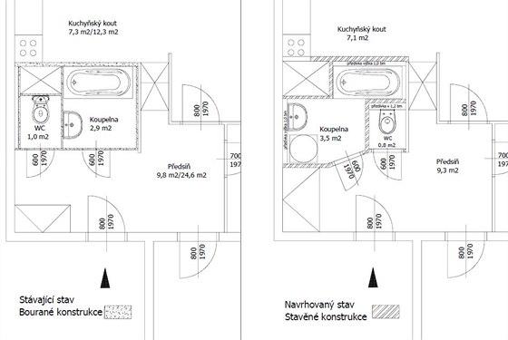 Zajímavá dispoziční změna umakartové koupelny