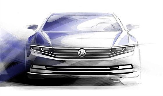 Skica nové Volkswagenu Passat naznačuje, že na designovou revoluci tvůrci...