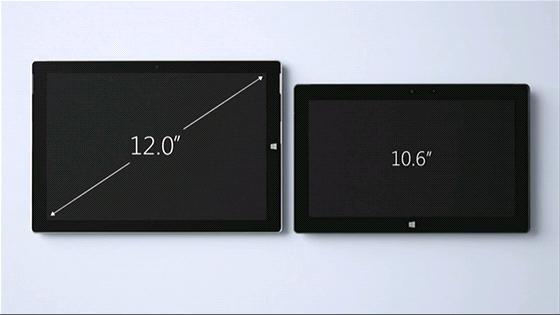 Kužník Jan: Názorná ukázka rozdílu mezi stávající generací tabletů Surface (vpravo) a novým Surface Pro 3