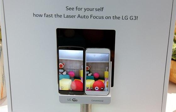 Rychlost laserov�ho ost�en� modelu G3 demonstrovalo LG na lond�nsk� premi��e...