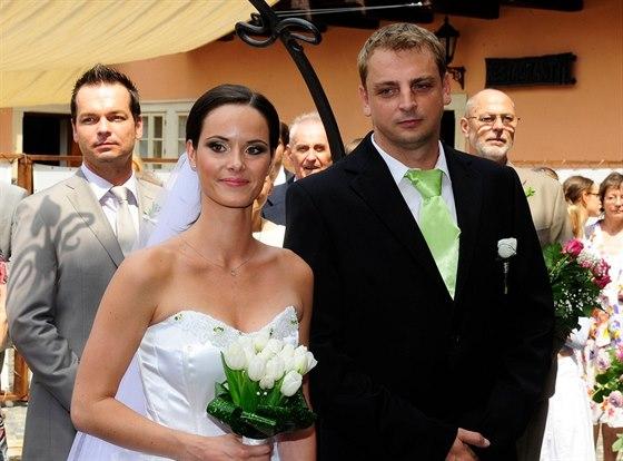 Ren�ta Czadernov� si Davida Ochmana brala v roce 2010.
