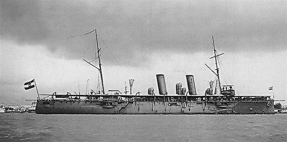 Rakousko - uherský křižník Zenta před 1. světovou válkou