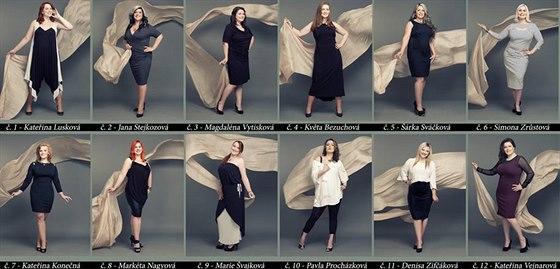 Finalistky sout�e Miss Full Of Beauty 2014