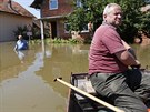 Bosenská vesnice Domaljevač, kterou zaplavila řeka Sáva (21. května 2014)