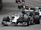 Nico Rosberg ze stáje Mercedes ve vedení Velké ceny Monaka.