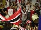 Nadšení fanoušci chrudimských futsalistů ženou svůj tým k titulu.
