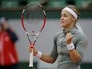 Anna Schmiedlová po vítězství nad Venus Williamsovou.