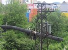 Potrubí, které poničili zloději.