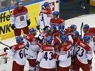 POSTUP. Čeští hokejisté vyhráli nad týmem USA 4:3 na mistrovství světa v Minsku...