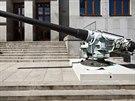 Kanón z roku 1899 ráže 15 centimetrů, který vyrobily Škodovy závody v Plzni,...