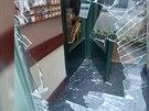 V�loha hotelu, kterou prokopl opil� cizinec v centru Prahy (25.5.2014)