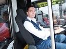 Nové autobusy Solaris brněnského dopravního podniku (27. května, 2014). Na...