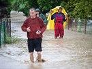 Povodně a kroupy na Rychnovsku ohrožovaly zejména obce Lhota u Potštejna a...