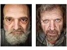 Radek Kalhous fotí zločince a známé osobnosti, které mají podobné rysy. Vlevo...