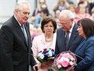 Slovenský prezident Ivan Gašparovič před odchodem z funkce navštívil s...