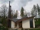 Kostel Božího milosrdenství ve Slavkovicích architekta Ludvíka Kolka