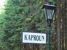 Zastávka Kaproun leží na trati úzkokolejky z Jindřichova Hradce do Nové...