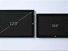 Názorná ukázka rozdílu mezi stávající generací tabletů Surface (vpravo) a novým...