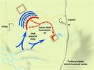 Bitvu rozhodl útok jízdní zálohy aliance (Panské jednoty). Výpadový oddíl...