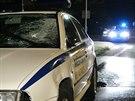 Po sr�ce s m�stskou polici� zem�el v Kladn� chodec. (27. kv�tna 2014)