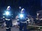 V�buch a n�sledn� po��r zdemoloval rodinn� d�m v Cerhenic�ch na Kol�nsku. (20....
