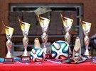 Malí fotbalisté žákovské kategorie se střetli ve středu 21. května v Brně v...