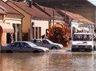 N�sledky povodn� v srbsk�m m�st� Obrenovac (22. kv�tna 2014)