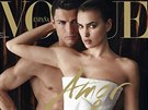 Cristiano Ronaldo a jeho p��telkyn� Irina �aikov� na ob�lce �asopisu Vogue.