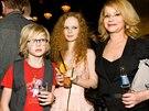 Jitka Asterová se dcerou Annou a synem Adamem