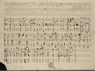 Rukopis Písně svobody Bedřicha Smetany (z výstavy Hudba a politika)