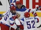 RADOST. Arťom Anisimov (uprostřed) slaví gól ve čtvrtfinále MS.